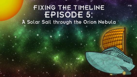 5. Solar Sail Through Orion Nebula