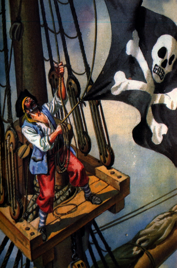 M. Humpfris illustration for A Ladybird Book About Pirates (1970)