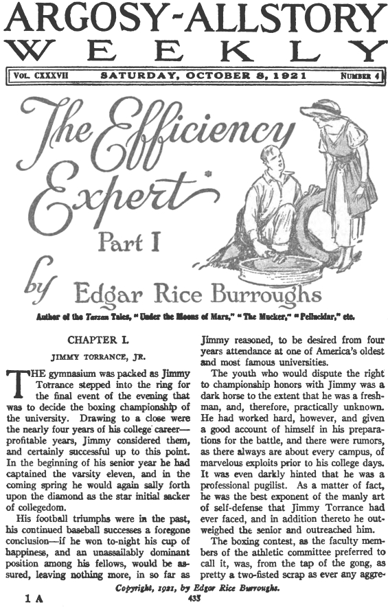 Argosy All-Story - The Efficiency Expert - INTERIOR