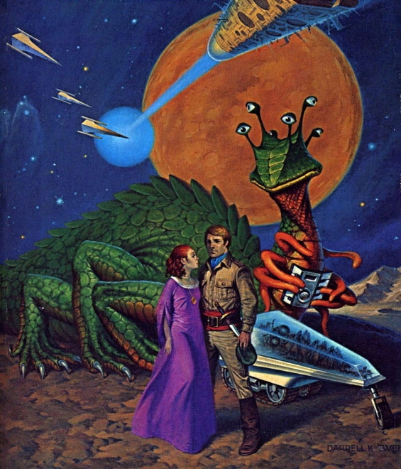 Between Planets - illustrated by Darrell K. Sweet