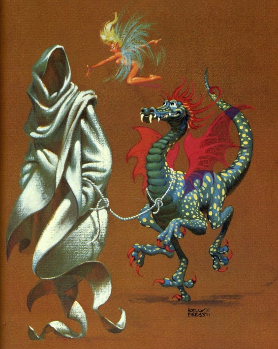 Frank Kelly Freas illustration of The Goblin Reservation