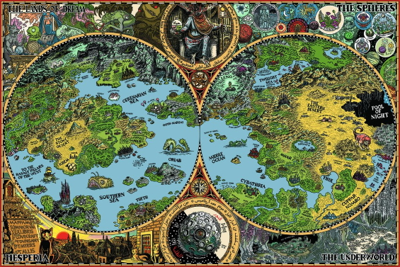 Jason Thompson's Map Of The Dreamlands