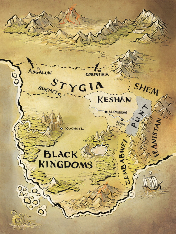 Oliver Cuthbertson - Map Of Hyboria for JEWELS OF GHWALUR