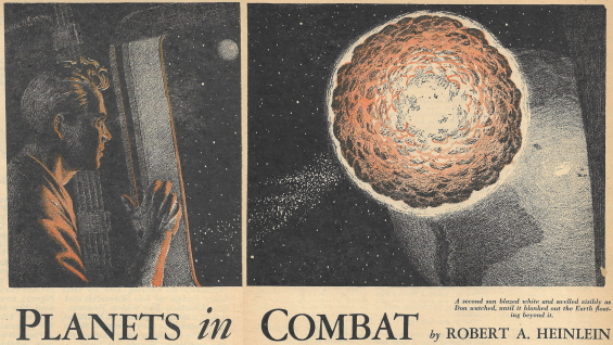 Planets In Combat by Robert A. Heinlein - Blue Book