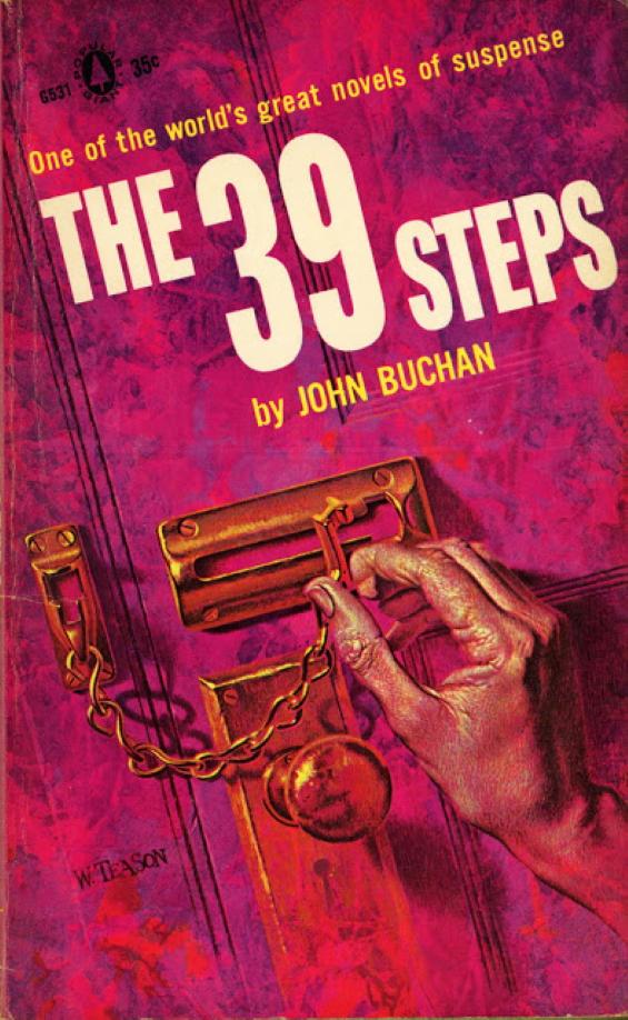 Popular Books - The Thirty-Nine Steps by John Buchan - illustration by William Teason