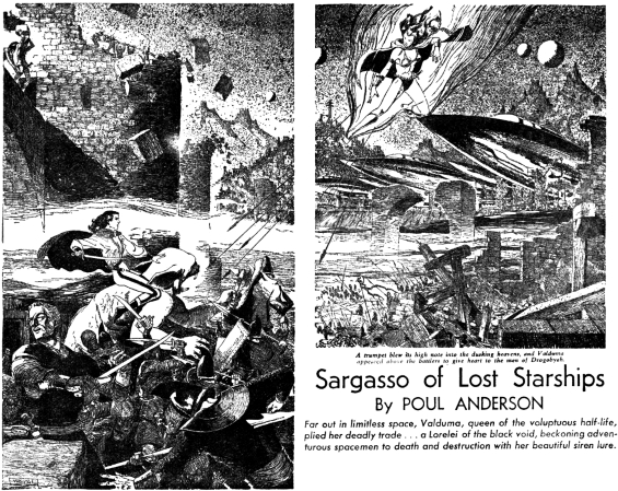 Sargasso Of Lost Starships by Poul Anderson - from Planet Stories, January 1952