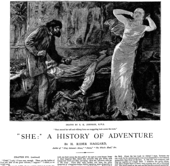 She: A History Of Adventure by H. Rider Haggard from The Graphic