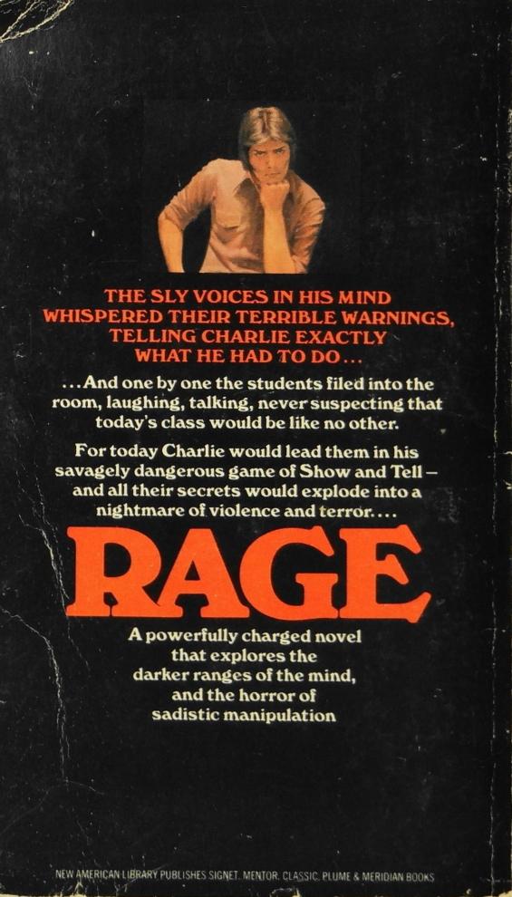 Signet - Rage by Richard Bachman