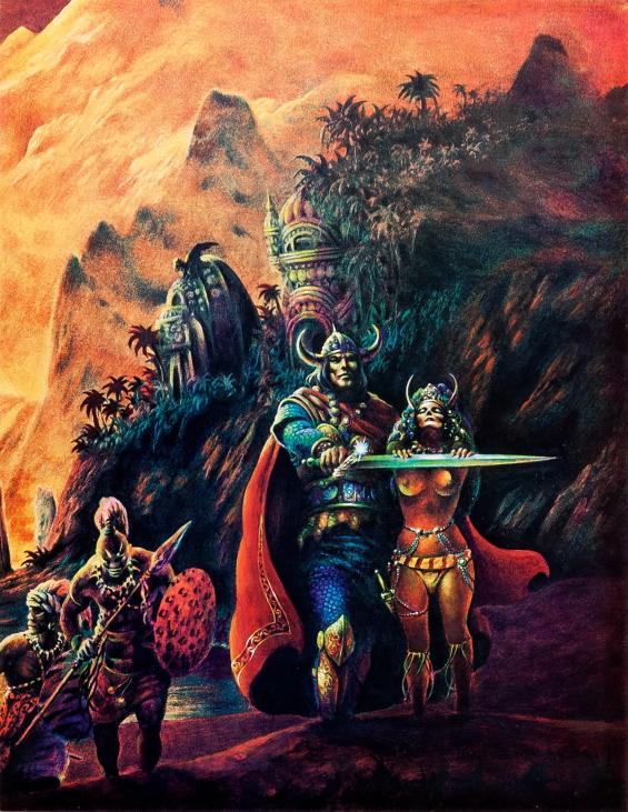 Stephen Fabian illustration of Queen Of The Black Coast