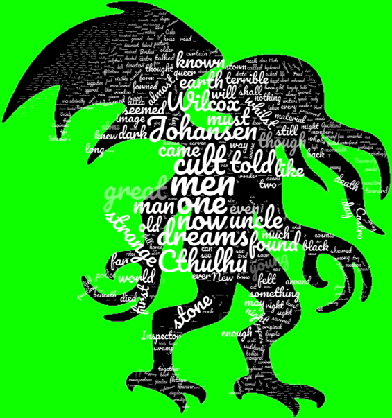 The Call Of Cthulhu WORDCLOUD