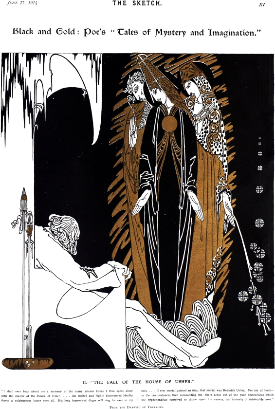 The Fall Of The House Of Usher illustration by Thurburn