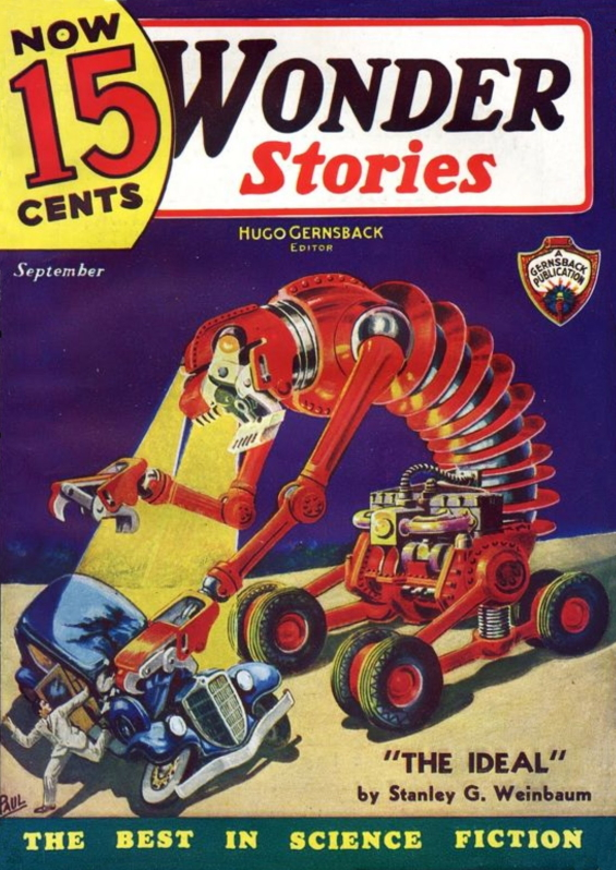 WONDER STORIES, September 1935 - The Ideal by Stanley G. Weinbaum