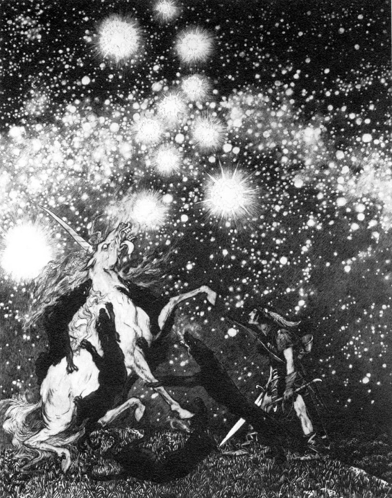 The King Of Elfland's Daughter by Lord Dunsany - illustration by SIDNEY SIME