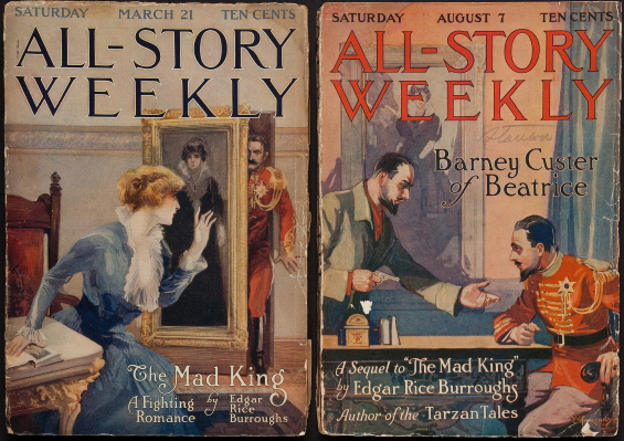 The Mad King And Barney Custer Of Beatrice by Edgar Rice Burroughs - ALL-STORY WEEKLY