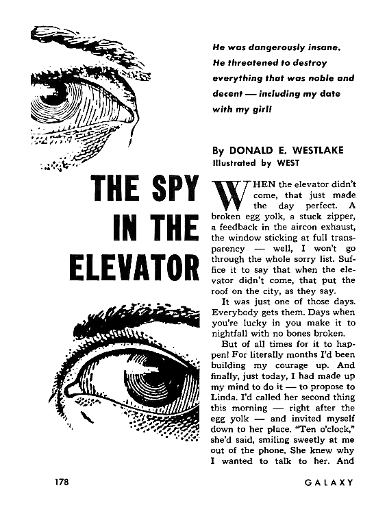 The Spy In The Elevator by Donald E. Westlake