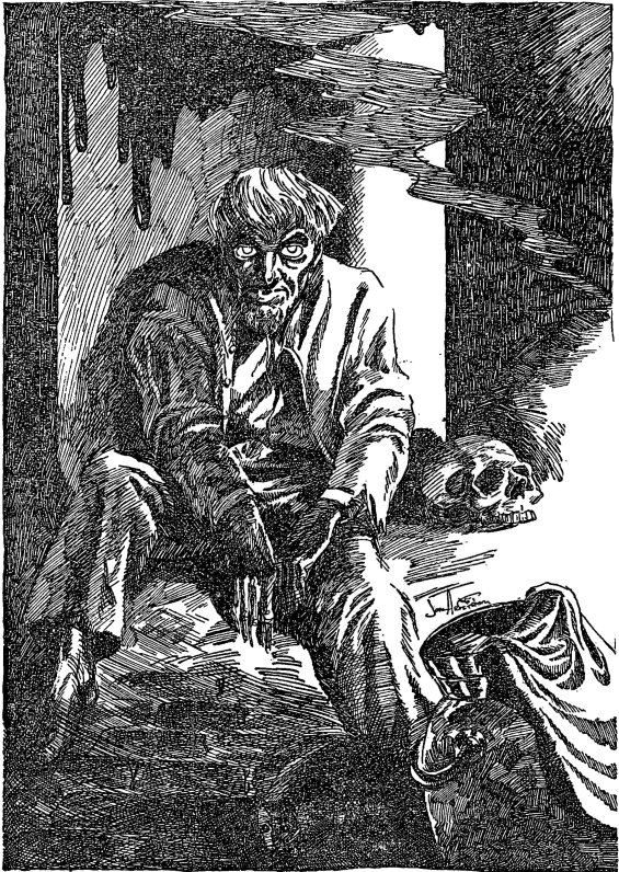 Weird Tales, March 1952 - Jon Arfstrom illustration for The Horror At Red Hook